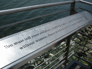 World War II History in the East Bay: Rosie the Riveter Memorial - inspirational quote about the role of women in the war effort