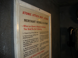 World War II History in the East Bay: Instructions in case of atomic attack inside the SS Red Oak Victory Ship