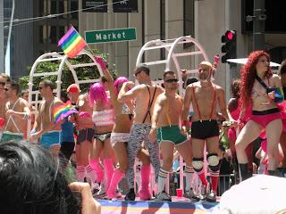 San Francisco Pride - men in undies