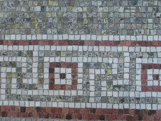 Mosaic tiles at Haas-Lilienthal House in San Francisco