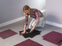 laying heuga carpet tiles
