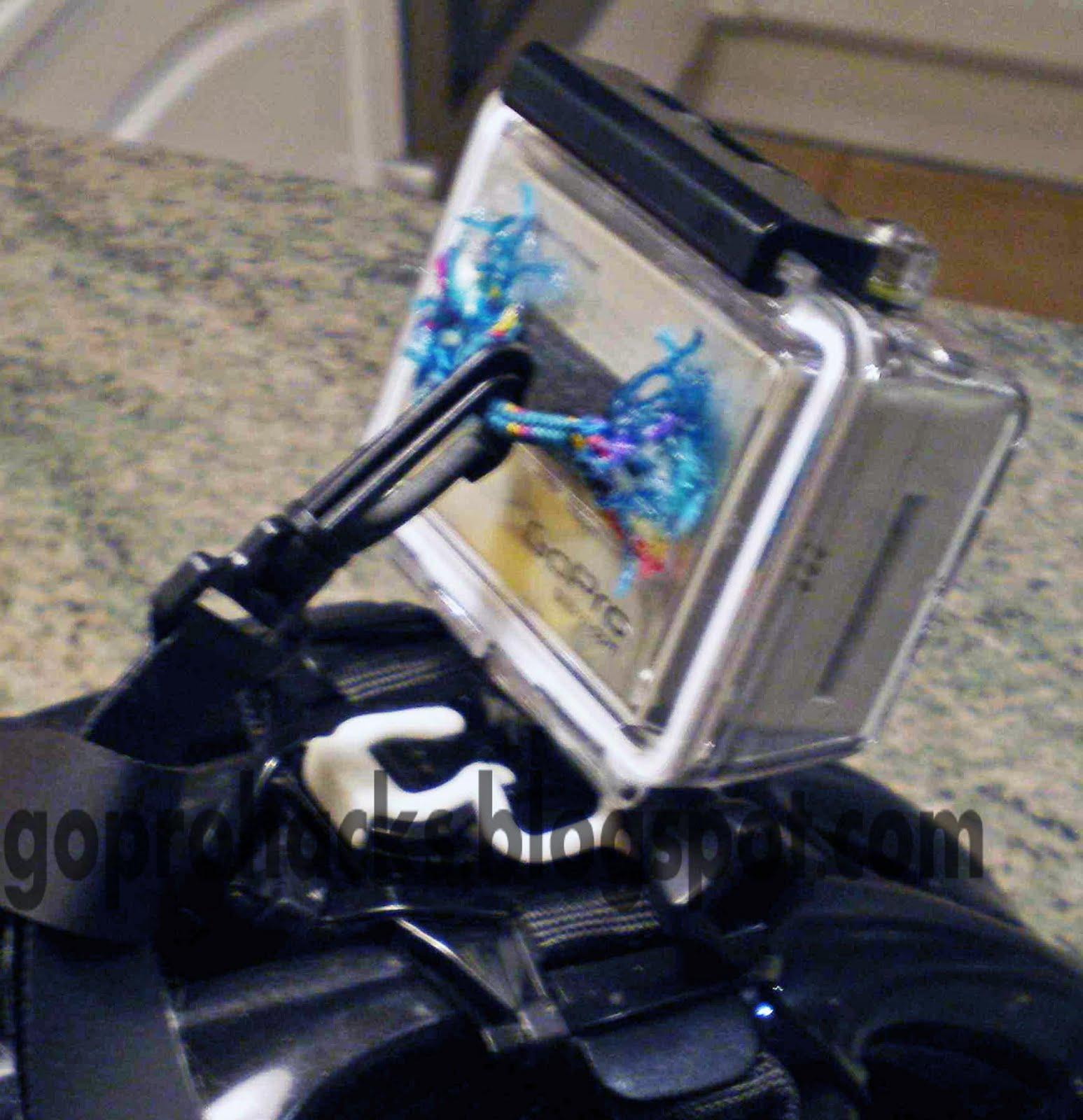 gopro hd cameras hacks et astuces mettre un leash sur le caisson cordon de s curit. Black Bedroom Furniture Sets. Home Design Ideas