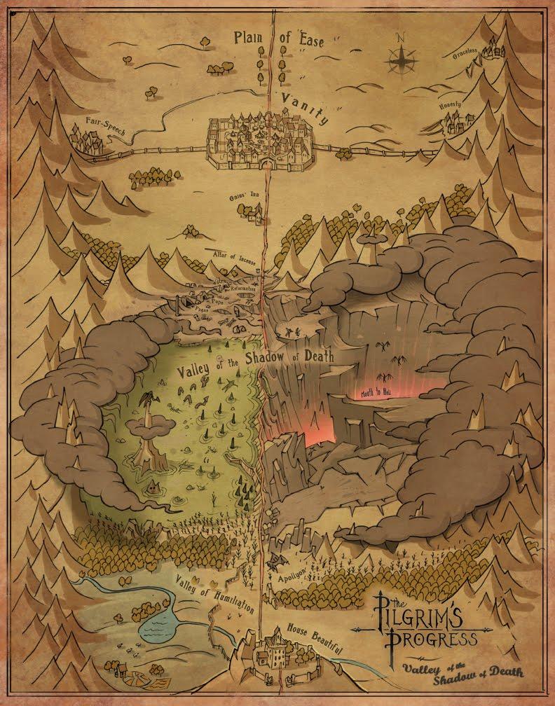 Pilgrim\'s Progress Map Garrett Taylor   Portfolio Pilgrim\'s Progress Map