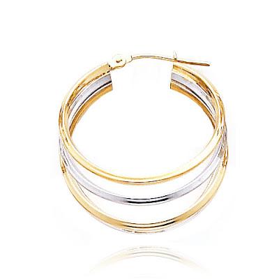5-Hoop Tube Earrings