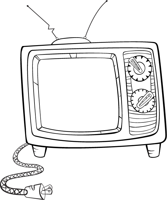 appliances television coloring pages - photo #29