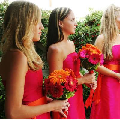 Pink and Orange Wedding Ideas: Pink and Orange Bridesmaid ...