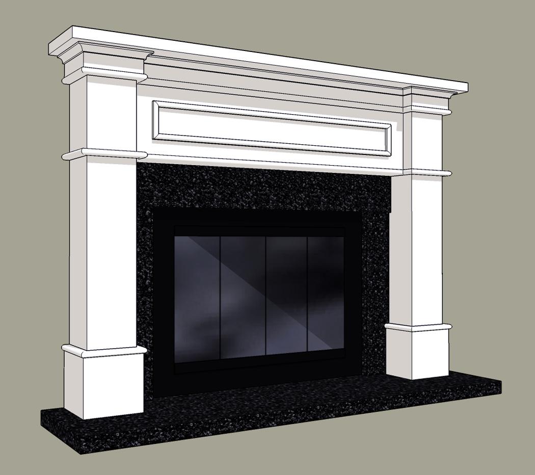 Stone fireplace mantels and surrounds - Mantelpiece surround ...