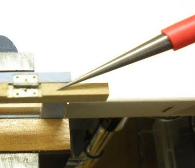 Karin Corbin Miniatures Installing The Hinge