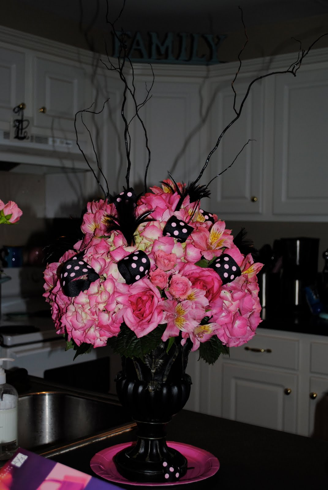 Aunt Elizabeth Was Throwing A Shower For Her Sister Expecting In Few Months And Asked Chad To Do The Flower Arrangement
