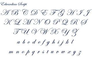 Image Gallery edwardian font
