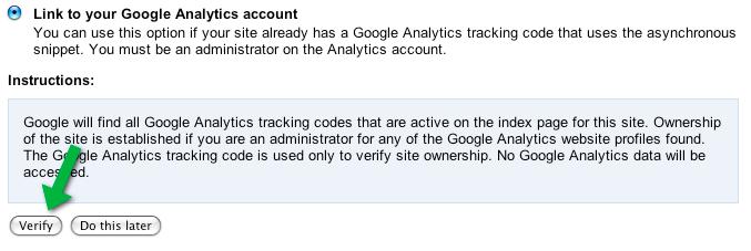 Official Google Webmaster Central Blog: Verification time