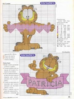 punto de cruz especial Garfield