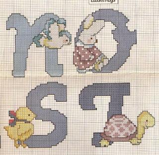 abecedario con tortugas, conejos, pinocho