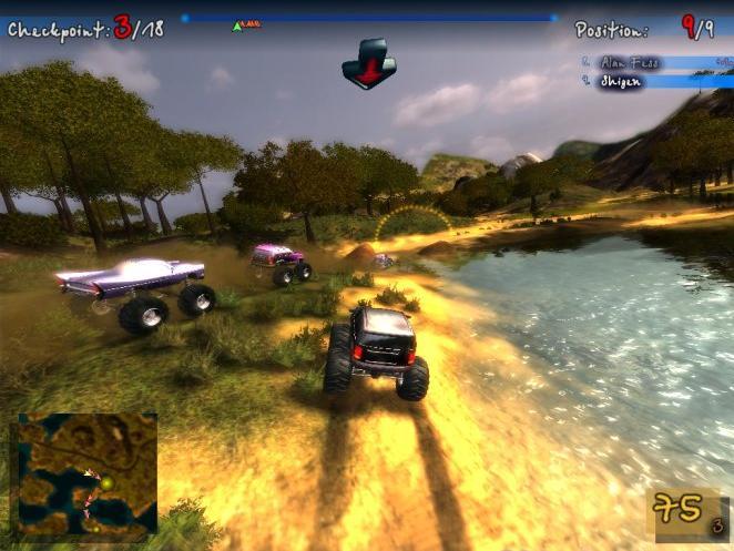 لعبة سباق السيارة الرائعة جدا Bigfoot 4X4 Challenge بحجم23 ميجا