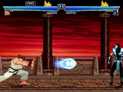 jogo Mortal Kombat Street Fighter
