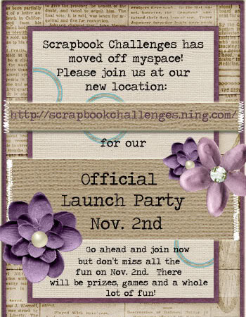 Scrapbook Challenges New Site Lauch Party!!!!
