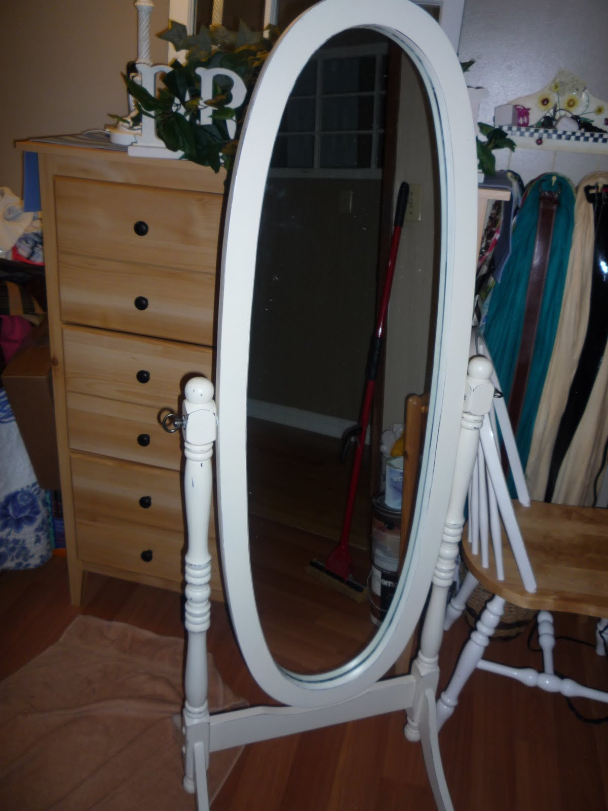 Painted Whyte: Pure White Dresser & Mirror Mirror on the