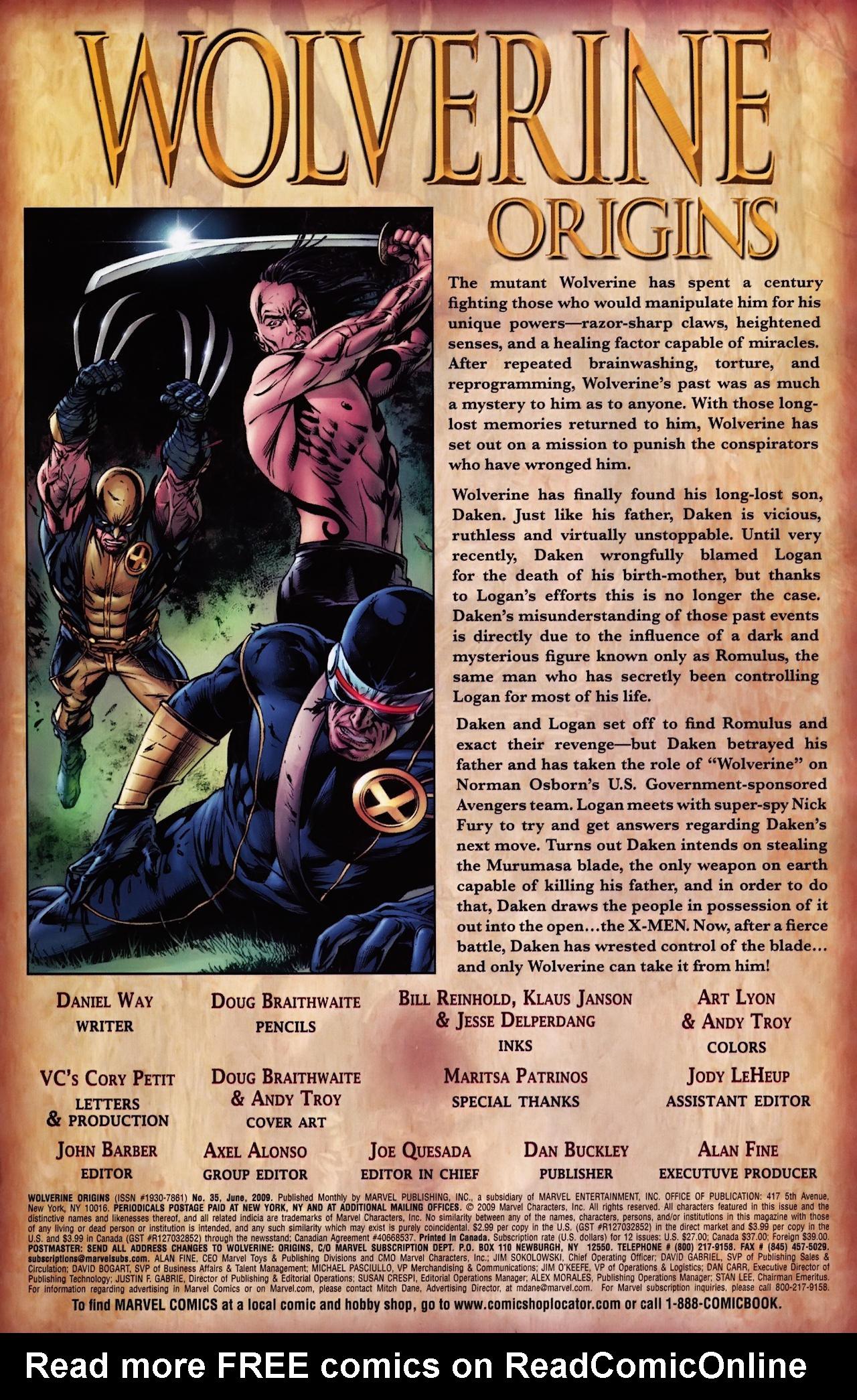 Read online Wolverine: Origins comic -  Issue #35 - 2