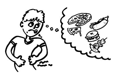 Resultado de imagen de dibujo tener mucha hambre