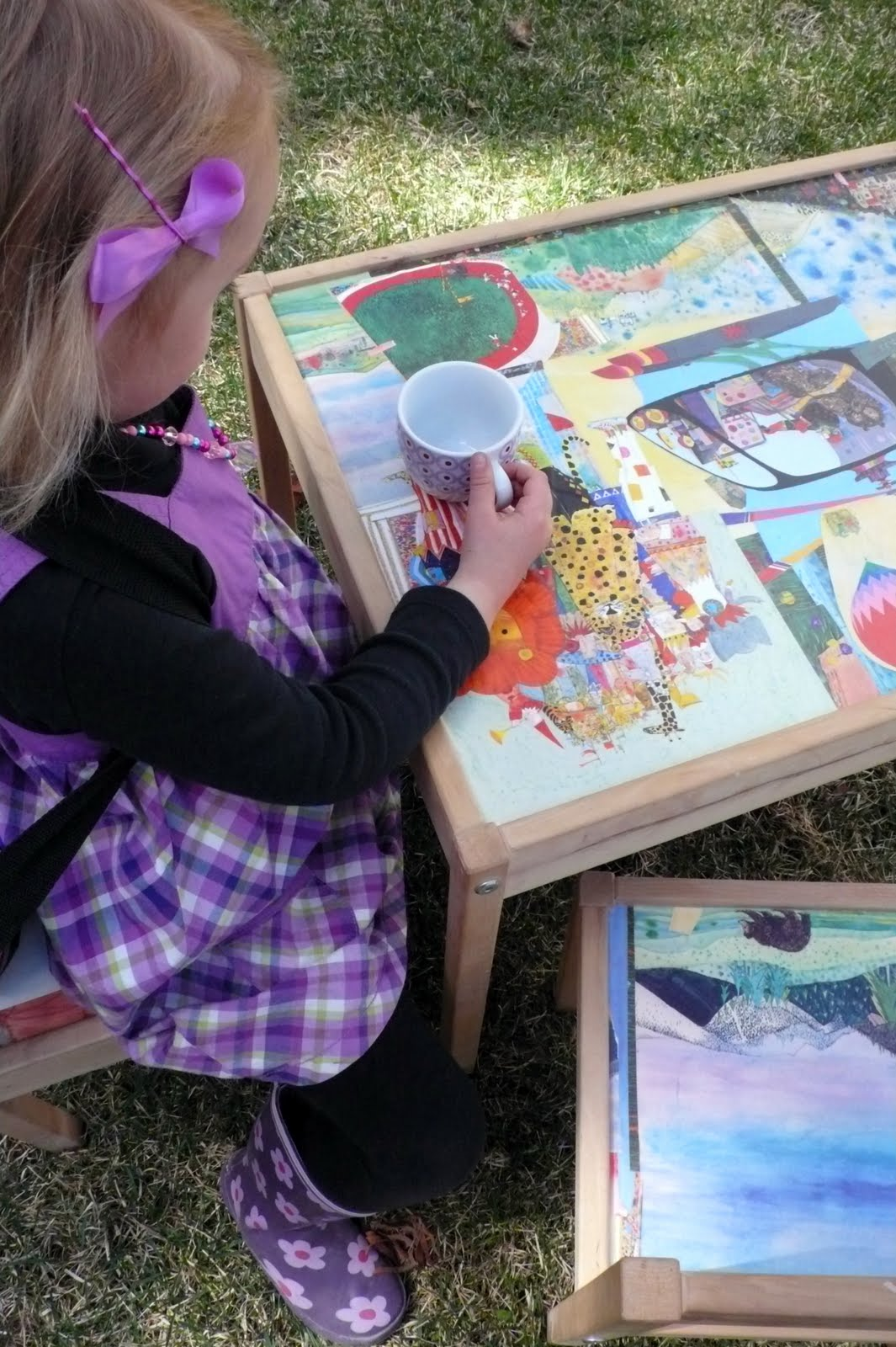 Art Food And Motherhood Decoupage Your Child S Art Table