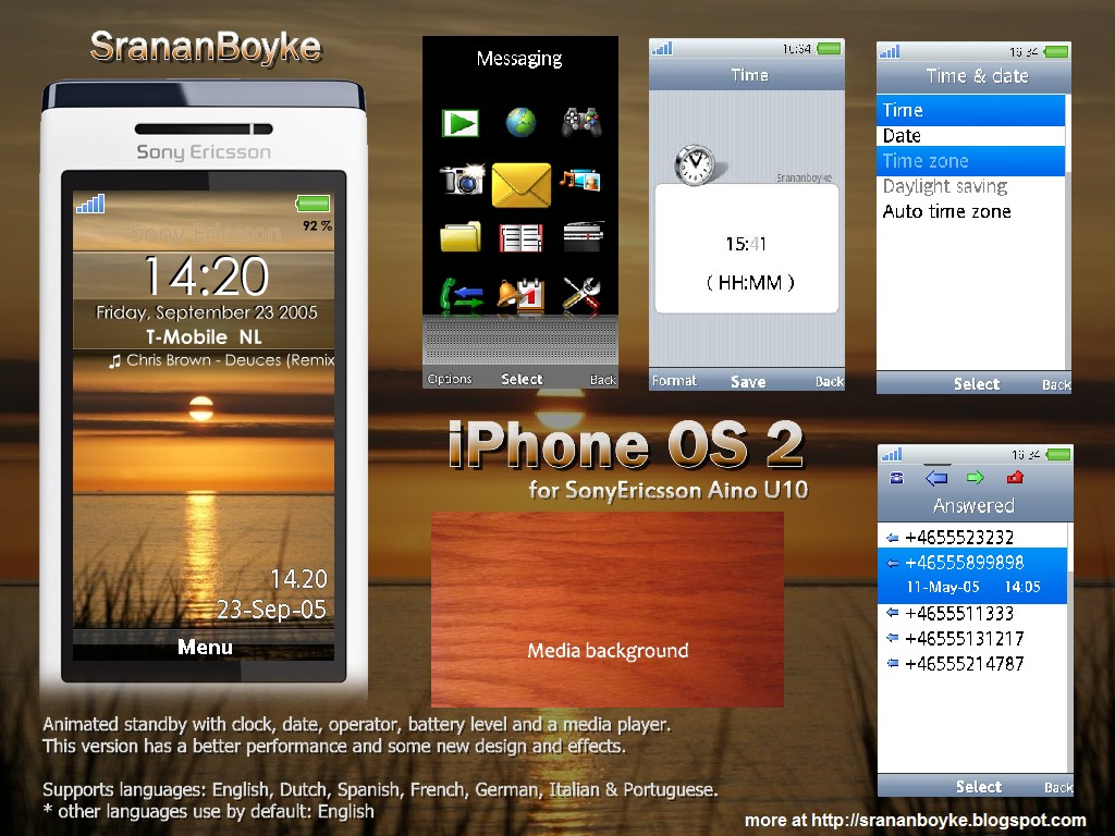 theme sony ericsson u10i mobile9