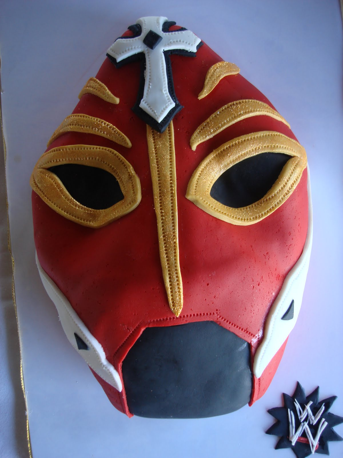 The Lovely Layers Wrestling Mask Cake