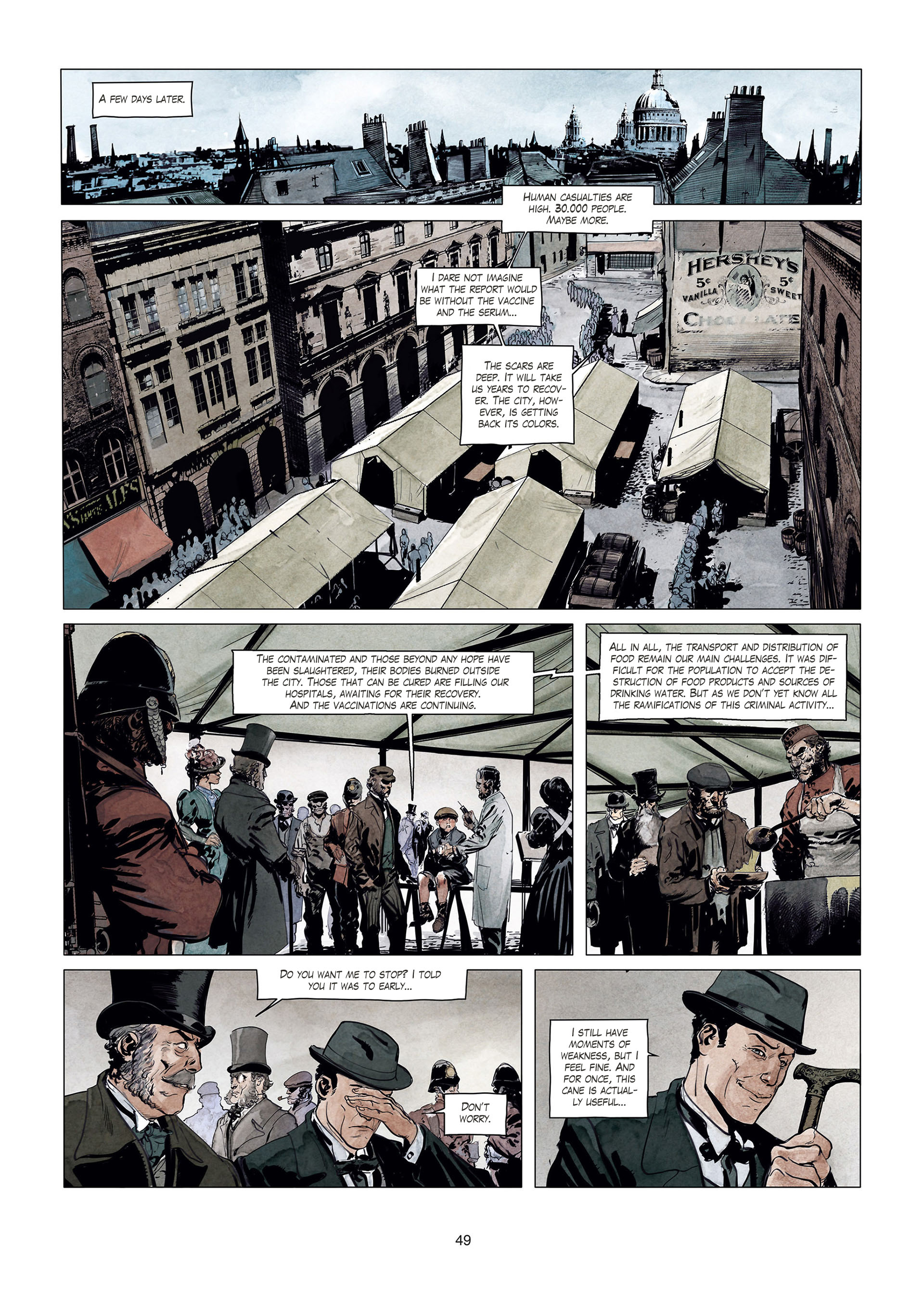 Read online Sherlock Holmes Society Tome 4 : Contamination comic -  Issue # Full - 49