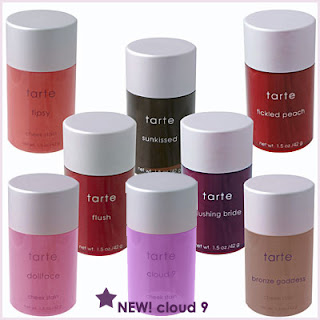 I love cheek stains, (1) becaus they go on natural, and (2) becaus thry stay on for practicely forever. Even when you go swimming. These gorgeous blushes are called, Tarte Gel  Blush. $28 for a full sixed bottle. $15 for a mini.