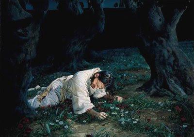 Jesus at Gethsemaneh by Liz Lemon Swindle
