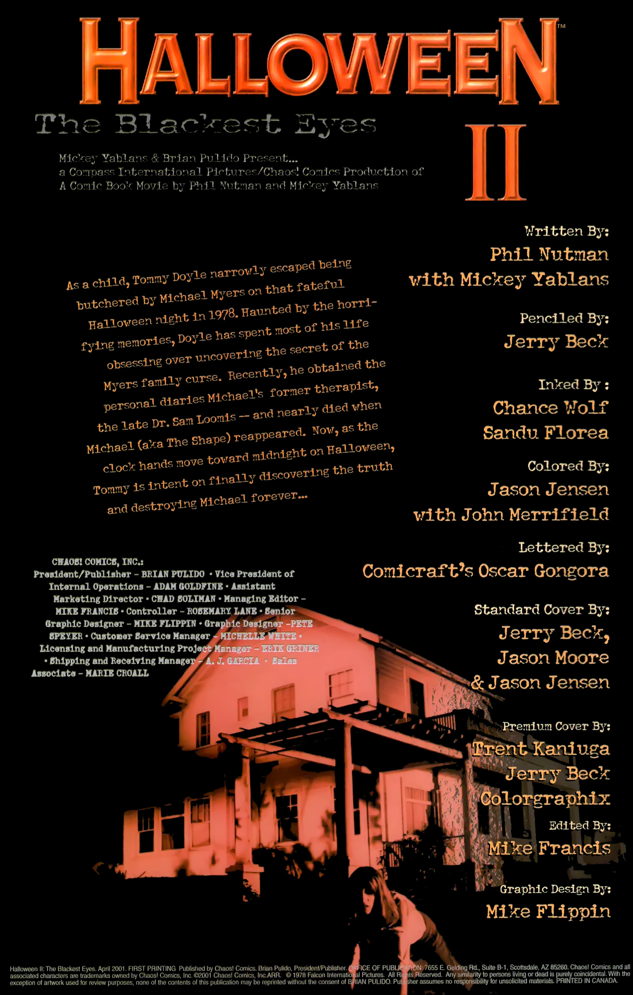 Read online Halloween II: The Blackest Eyes comic -  Issue # Full - 2