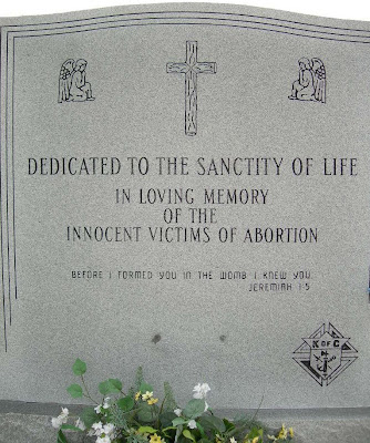 abortion exhibit at Groom Cross monument dedicated to the sanctity of life