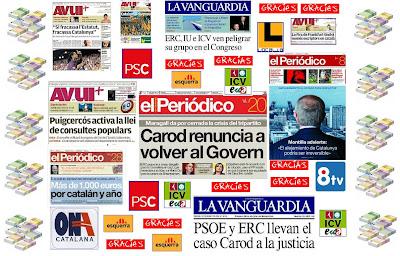 Medios subvencionados por el nacionalismo catalán