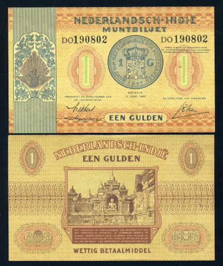 Pecahan 1 gulden 1940