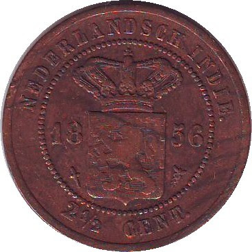 Uang Kuno Logam Neth Indies 2 5 Cent