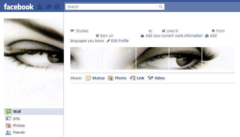 Cool Facebook Profile: 6 - Eyes - Cool Facebook Profile