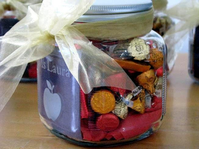 acid etched jar filled with candy