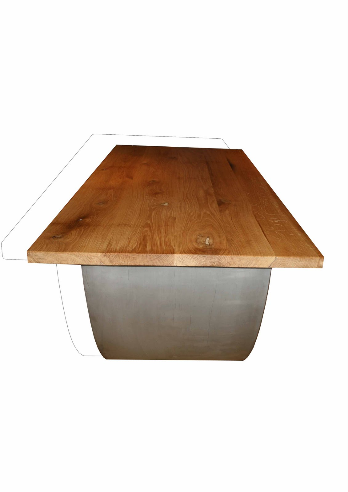la petite fabrik table inox. Black Bedroom Furniture Sets. Home Design Ideas