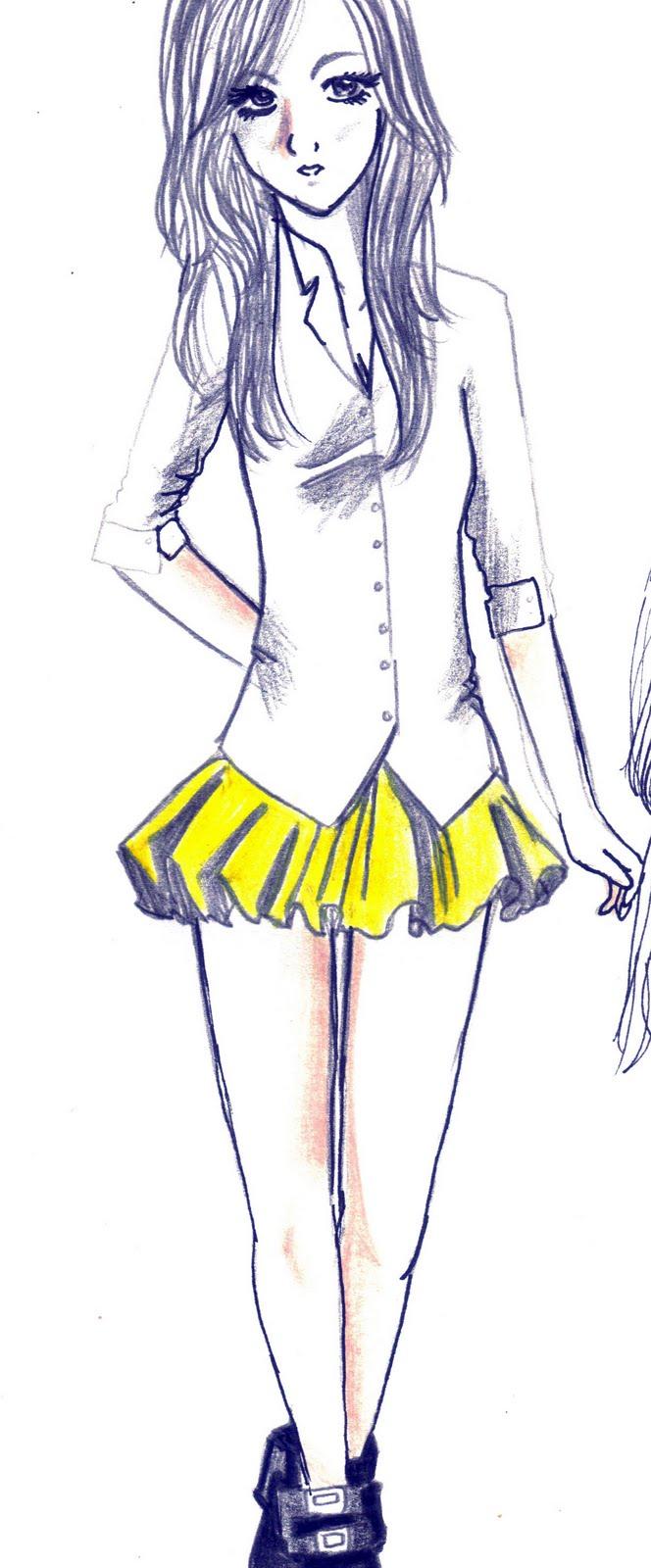 easy fashion design sketches - photo #35
