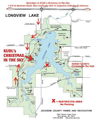 longview lake shelter map Capt Spaulding S World Longview Lake S Christmas In The Sky Map longview lake shelter map