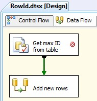 Microsoft SQL Server Integration Services: Create a Row Id