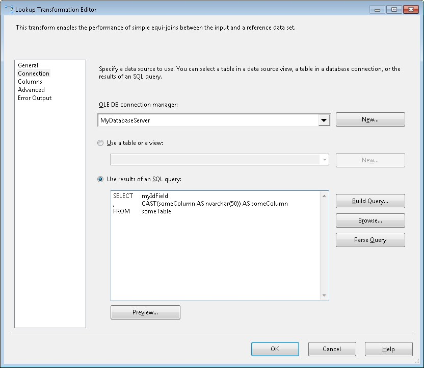 Microsoft SQL Server Integration Services Cast and Convert to avoid - sql convert