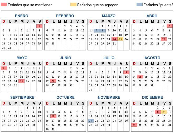 2011 Calendario.Colegio Superior San Martin Nuevos Feriados 2011 Calendario