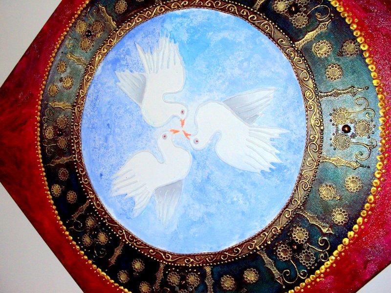 A Paz Que Trago Em Meu Peito é Diferente Da Paz Que Eu: Exposição: Mandala NO TEMPLO DA PAZ