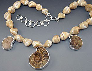 Jan McClellan Ammonite Necklace
