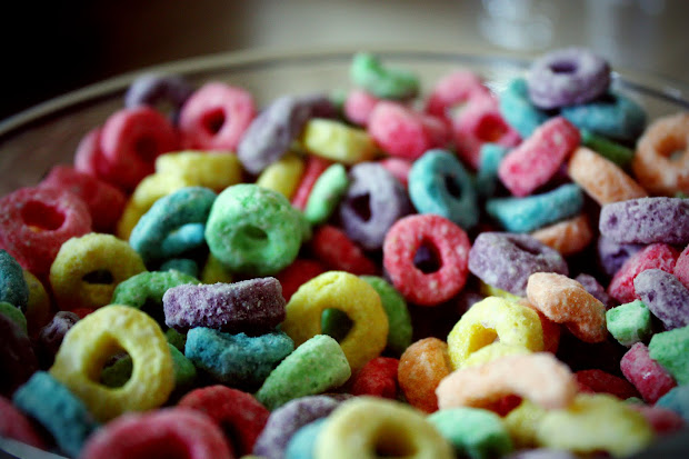 Fruit Loops Cereal Bowl