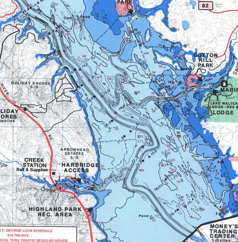 lake eufaula fishing map Lake Eufaula Lake Eufaula Map Alabama lake eufaula fishing map
