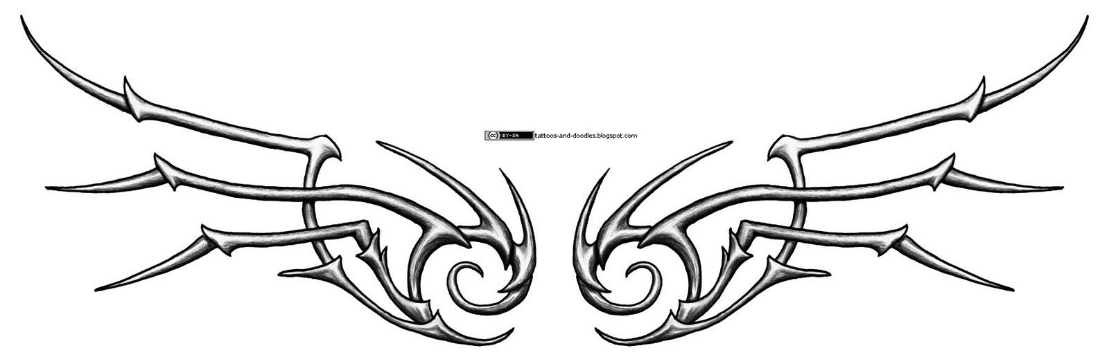 9aac6aebc Tattoos and doodles: Bone tribal wings