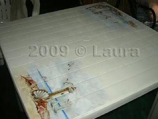 Decoupage Su Tavolo Di Plastica.Laura Fa Tavolo In Resina Recuperato