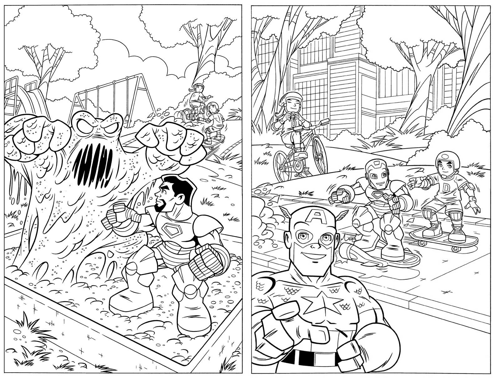 free superhero squad coloring pages - photo #32