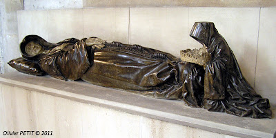 Gisant de Philippe de Gueldre, seconde épouse de René II (morte en 1547)  Œuvre de Ligier Richier  Nancy - Église des Cordeliers